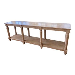 French Country Large Console Table For Sale