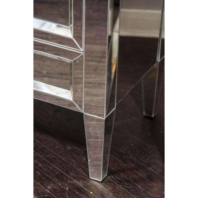 Beautiful custom mirrored nightstand.
