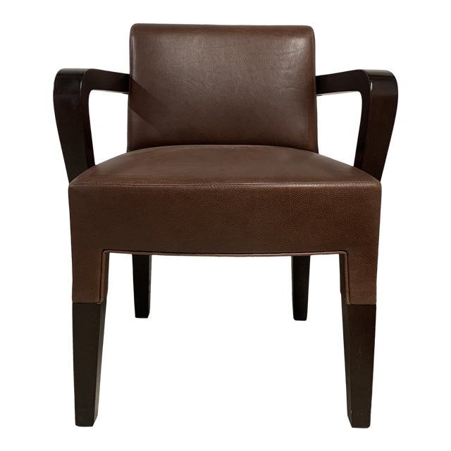 Promemoria Brown Leather Chair For Sale