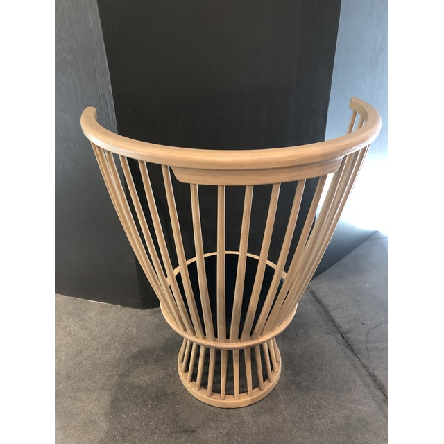 Tom Dixon Fan Chair Natural For Sale In Los Angeles - Image 6 of 12