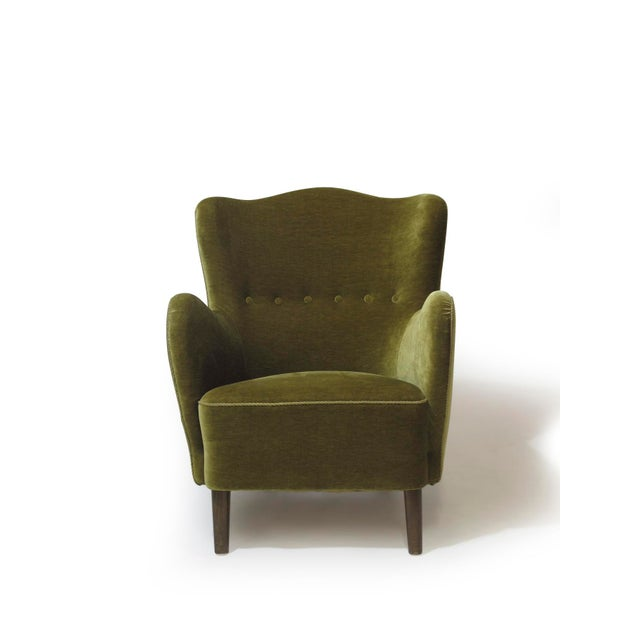 Scandinavian Mohair Lounge Chair For Sale - Image 5 of 11