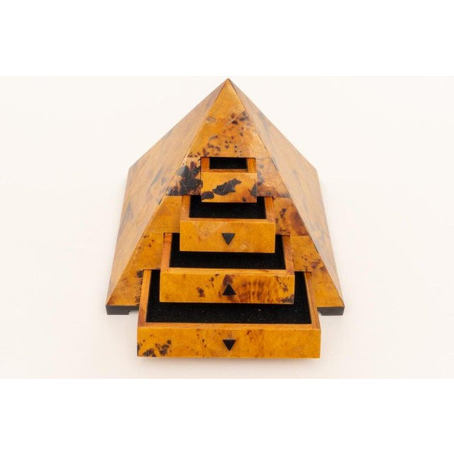 Maitland Smith Pyramid Form Jewelry Box For Sale - Image 13 of 13