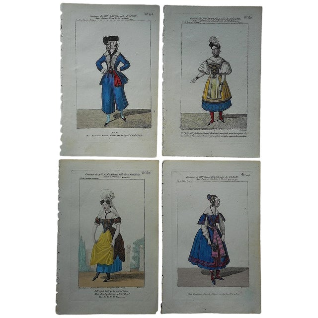 Four Antique French Theater/Costume Prints - Image 1 of 6