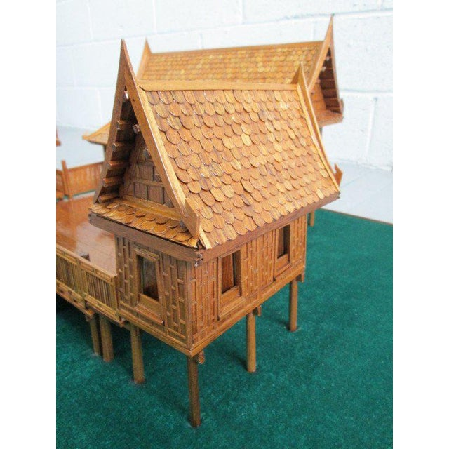 1950s Architectural Model of a Japanese House in Glass Case For Sale - Image 5 of 10