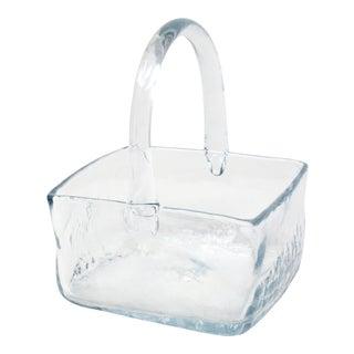 Handmade Square Glass Basket For Sale