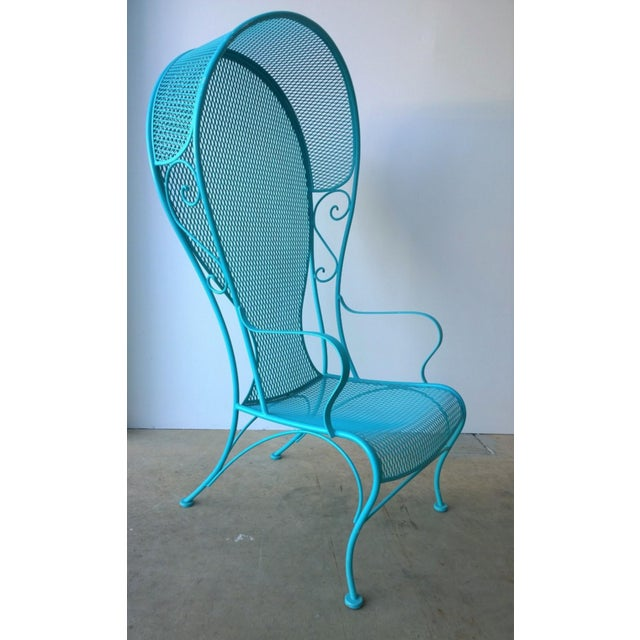 Mid-Century Modern Russell Woodard Blue Canopy Patio Chair For Sale In Houston - Image 6 of 10