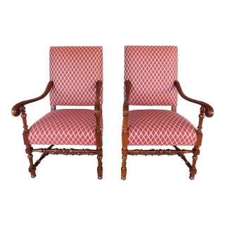 Southwood Jacobean Style Arm Chairs - a Pair For Sale