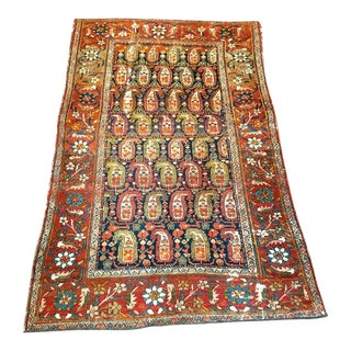 Persian Kurdish Village Wool Rug - 4′ × 6′4″ For Sale