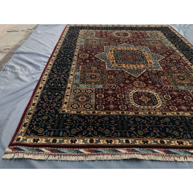 Islamic Persian Handmade Traditional Rug - 4′11″ × 6′7″ For Sale - Image 3 of 5