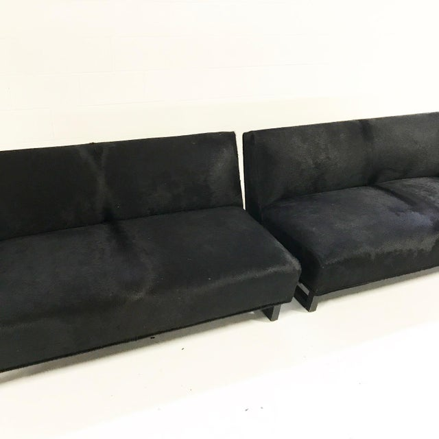 1950s Forsyth One of a Kind 1950s Sectional Sofa in Natural Black Brazilian Cowhide For Sale - Image 5 of 8