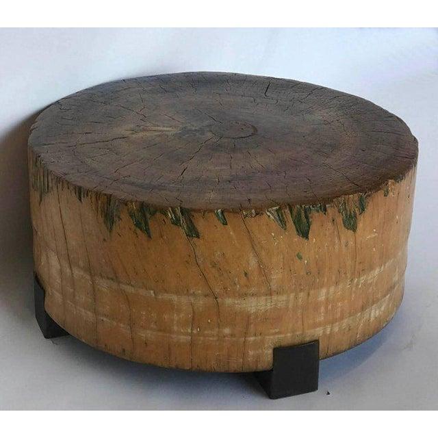 Brown Vintage Butcher Block Table For Sale - Image 8 of 8