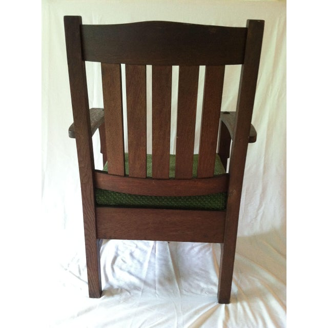1910s Antique Mission Arm Chair Jm Young 1910's For Sale - Image 5 ... - Antique Mission Arm Chair Jm Young 1910's Chairish