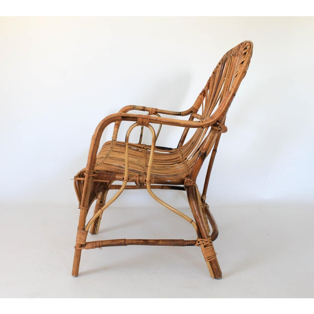 Boho Chic Franco Albini Style Loveseat or Settee For Sale - Image 3 of 9