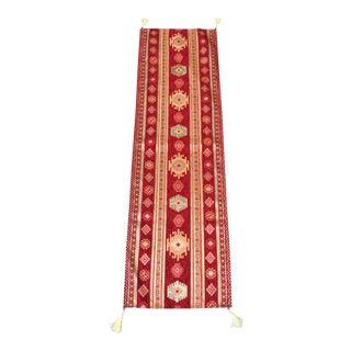 Red Turkish Kilim Table Linen