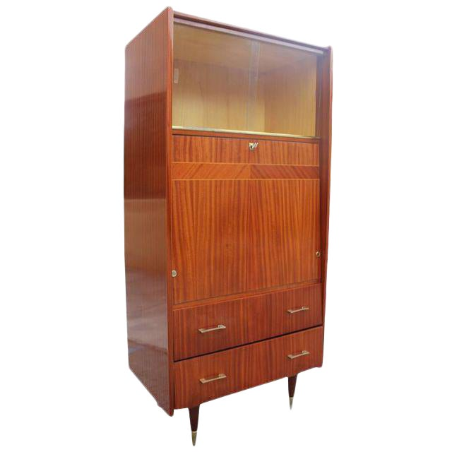 Monumental French Art Deco Mahogany Bar, Circa 1940s - Image 1 of 9