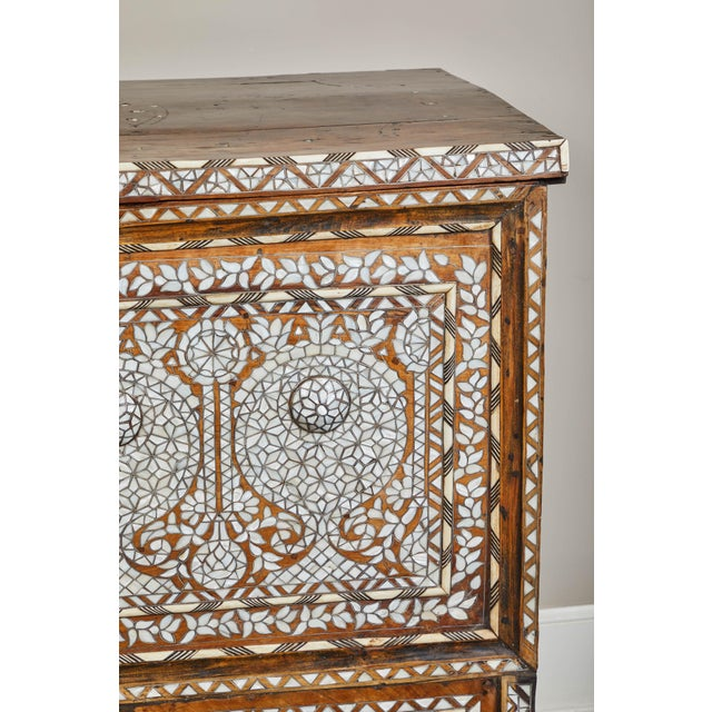 White 19th Century Syrian Inlaid Wedding Chest For Sale - Image 8 of 10