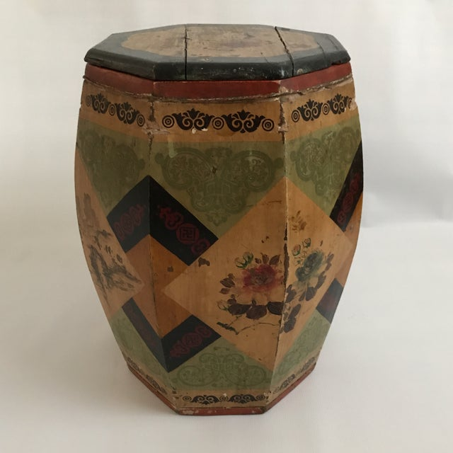 Chinese Octagonal Barrel & Lid For Sale - Image 5 of 11