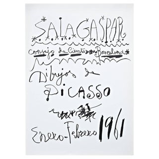 Original Picasso Lithography, Drawings Exhibition 1961