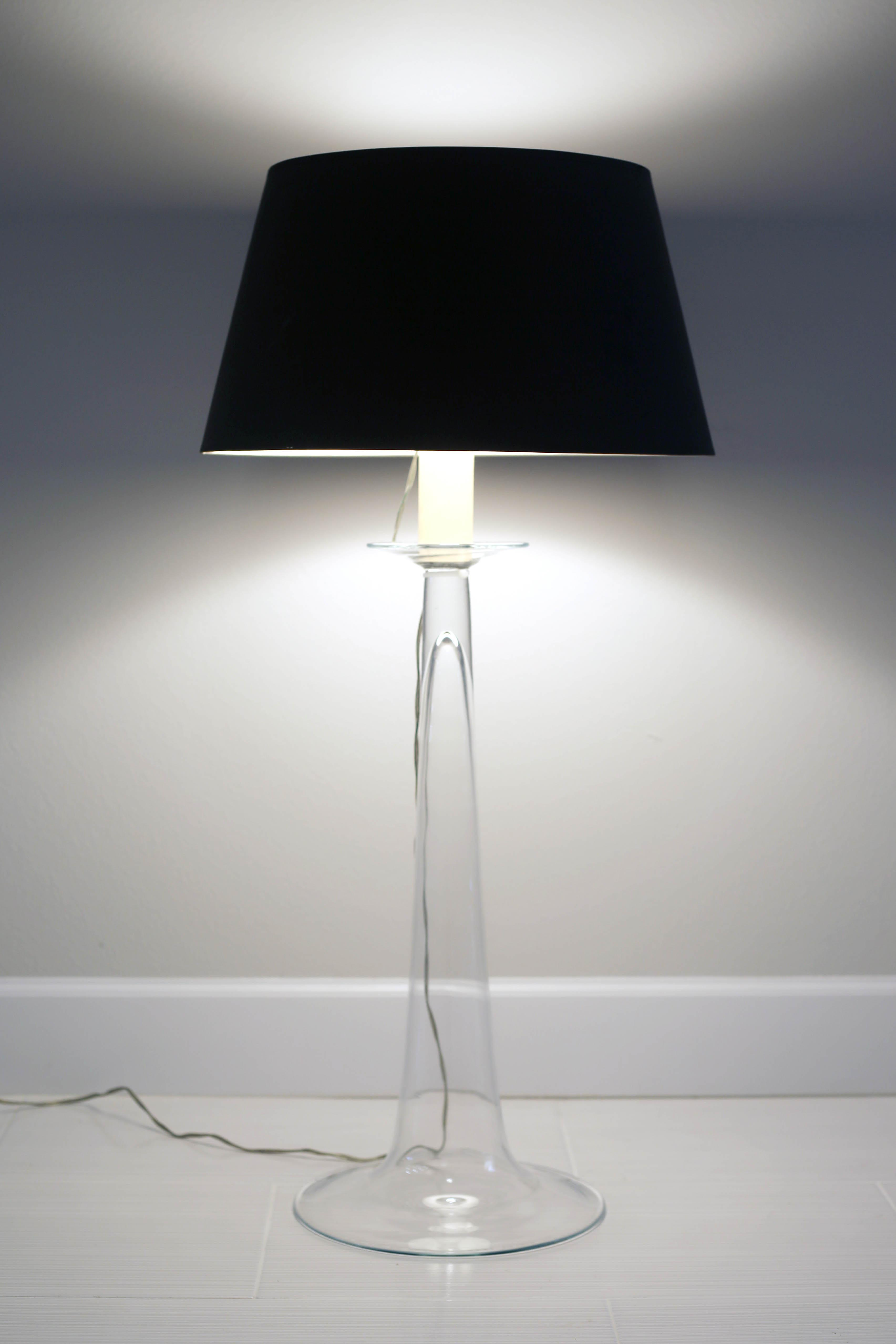 Tall Glass Table Lamp By Barbara Cosgrove Chairish