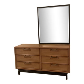 American of Martinsville Chest of Drawers and Mirror For Sale