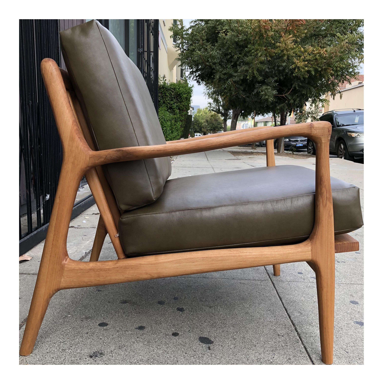 Custom Made Mid Century Modern Lounge Chair Chairish