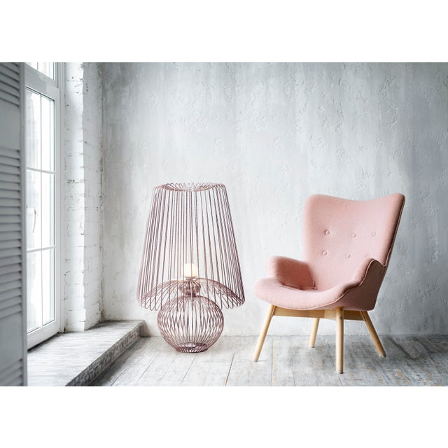 Oversized Metal Floor Lamp Koy in Rose Gold For Sale - Image 4 of 6