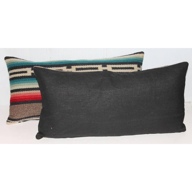 Pair of Mexican Serape Pillows For Sale - Image 4 of 4