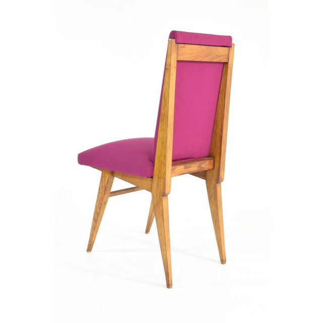 Wood French Art Deco Dining Chairs, Set of Five, 1940s For Sale - Image 7 of 12