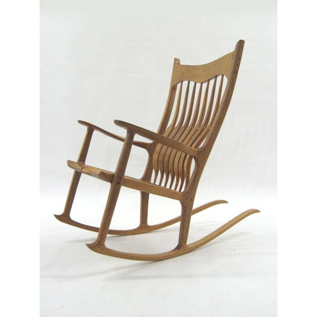 Outstanding Sam Maloof Style Rocking Chair In White Oak Onthecornerstone Fun Painted Chair Ideas Images Onthecornerstoneorg