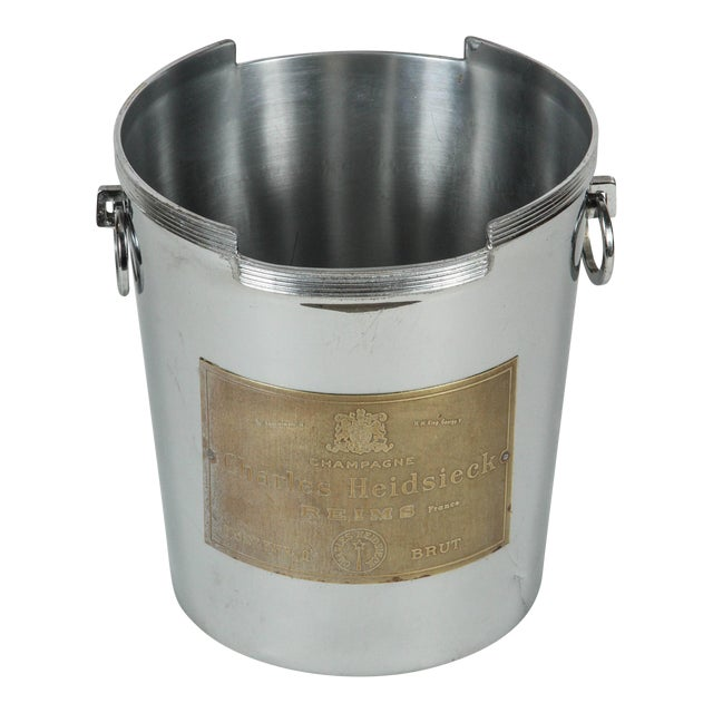 Art Deco American Chrome Champagne Ice Bucket For Sale