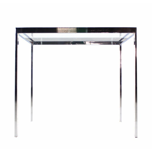 Chrome Square Chrome & Glass Side Table For Sale - Image 7 of 8