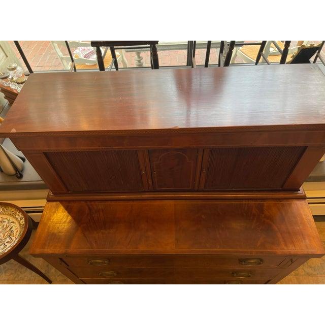 George Hepplewhite 19th Century George Hepplewhite Tambour Desk For Sale - Image 4 of 13