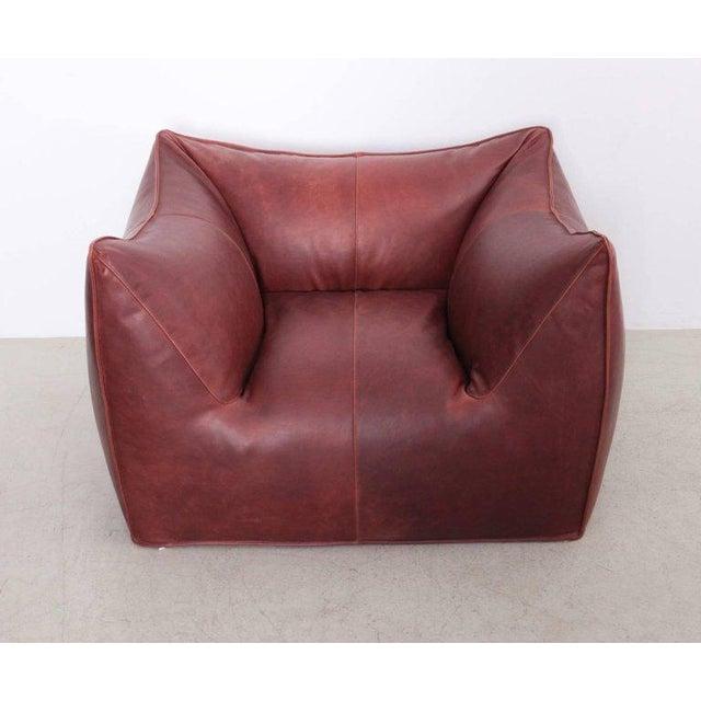 Italian Pair of Le Bambole Lounge Arm Chairs B&B Italia, 1970s by Mario Bellini For Sale - Image 3 of 8