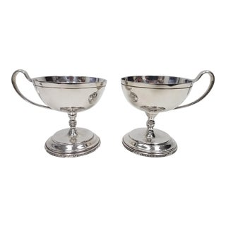Antique English Mappin and Webb Silverplate Sorbet Dessert Cups - a Pair For Sale