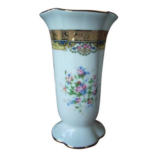 1970s Vintage Porcelaine Imperia Limoges Vase For Sale
