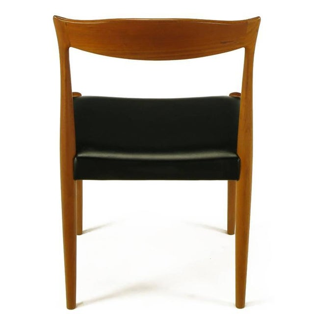 Six Teak Sculptural Back Dining Chairs, circa 1960s - Image 7 of 9