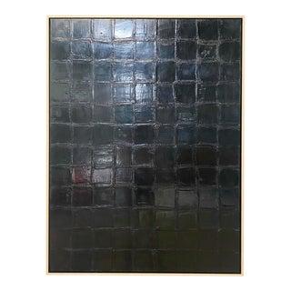 "Exclusive John O'Hara ""Bv, Black"" Encaustic Painting For Sale"