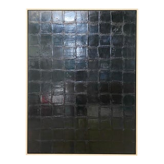"John O'Hara ""Bv, Black"" Encaustic Painting For Sale"