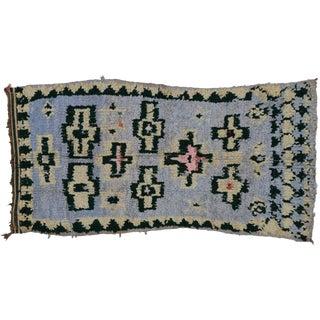 Vintage Berber Moroccan Boucherouite Rug - 3′9″ × 7′1″ For Sale