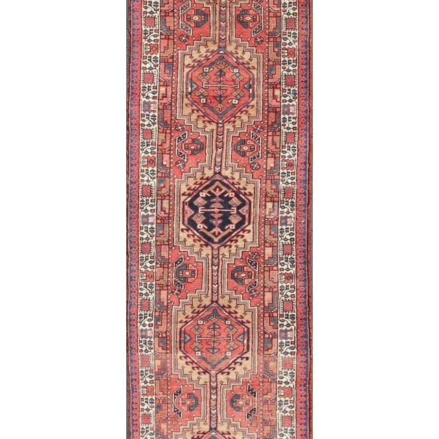 Islamic 1950s Semi Antique Karadjeh Runner Rug - 3′6″ × 15′6″ For Sale - Image 3 of 13