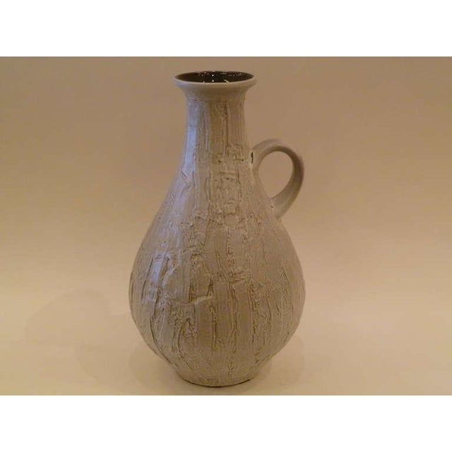 Large 50s Clemens & Huhn Textured German Pottery Mid Century Modern Krug Floor Vase - Image 6 of 9