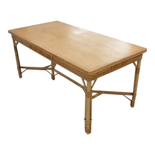 1950s Old Florida Style Bamboo Tea Table For Sale