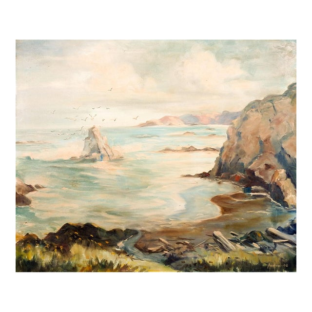 Seascape Rocky Coastline Painting For Sale