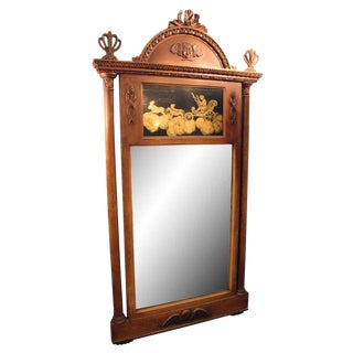 19th Century Wood Framed Mirror For Sale