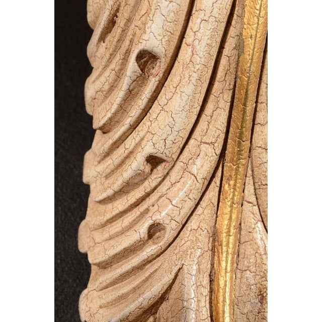 Gold Pair of Architectural Baroque Style Corbels with Hand-Carved Design For Sale - Image 8 of 11