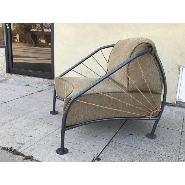 Mid-Century Modern Steel & Metal Prototype Chair For Sale - Image 3 of 6