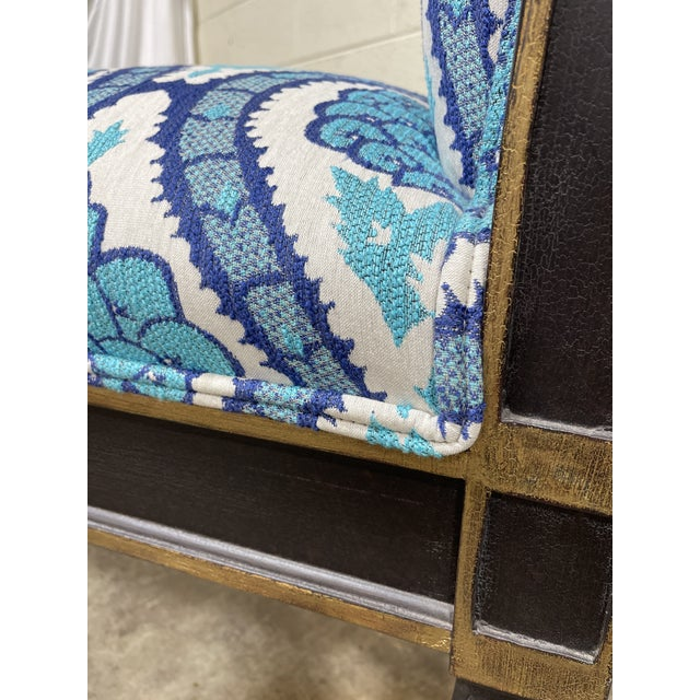Italianate Scrolled Arm Custom Designer Bench For Sale - Image 11 of 12