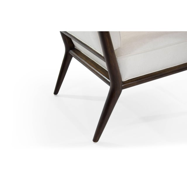 T.H Robsjohn-Gibbings Wing Arm Lounge Chairs - a Pair For Sale - Image 9 of 11