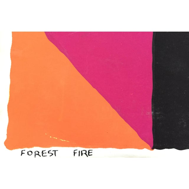 """1960s Op-Art Sidney Budnick Silkscreen """"Forest Fire"""" For Sale In New York - Image 6 of 10"""