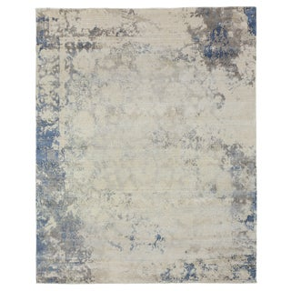 Bruges Multi Hand loom Bamboo/Silk Area Rug - 6'x9' For Sale